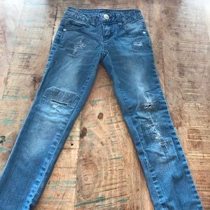 """Justice """"Ripped"""" Style Jeans, Gently Worn"""